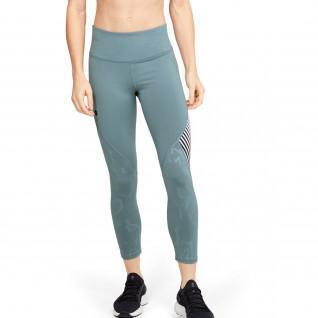 Women's short leggings Under Armour Rush Embossed Shine Graphic