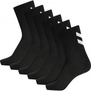 Pack of 6 women's socks Hummel hmlchevron