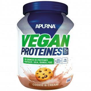 Vegan protein Apurna Cookie and cream - Pot 600g