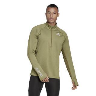 Sweatshirt with zip adidas Adizero Warm