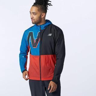 New Balance printed impact run light pack jacket