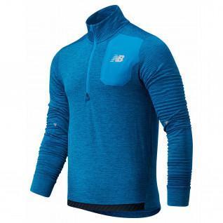Half zip sweatshirt New Balance heat grid
