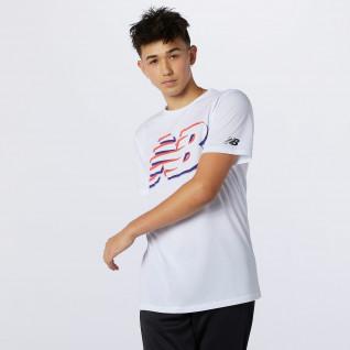 New Balance graphic heathertech jersey
