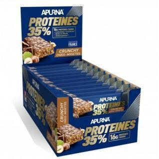 Lot 20 bars Apurna HP Crunchy Chocolate-Hazelnut